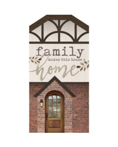 Word Block Tabletop-Family Makes / House HOU0079