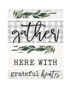 Embellished Decor: Gather Here With Grateful Hearts, SKD0032