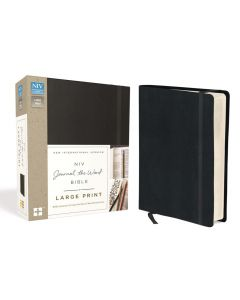NIV Journal the Word Large Print Bible-Hardcover, Black