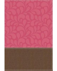 NIV Women's Devotional LGE Prt Ltrlike-Brown/Pink