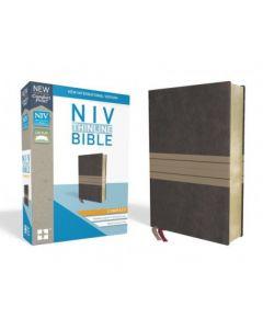 NIV Thinline Bible - Compact Imitation Leather, Brown/Tan