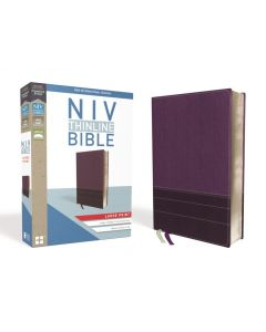 NIV Thinline Bible, Large Print, Leathersoft, Purple