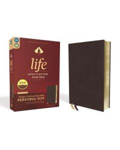 NIV  LASB  3rd Ed.  Personal Size  Bonded Leather  Burgundy  Red Letter Ed.