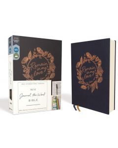 NIV Journal the Word Single Column Bible-Cloth over Board, Navy