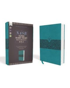 NASB Super Giant Ref. Bible LtrSoft-Teal   Red Ltr