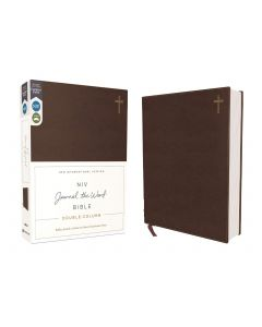 NIV Journal the Word Bible Double-Column Leathersoft-Brown