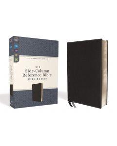 NIV Side-Column Reference Bible Wide Margin Leathersoft-Black, Comfort Print