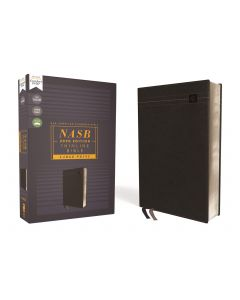 NASB 2020 Thinline Bible Large Print Leathersoft-Black