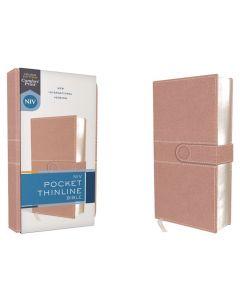 NIV Pocket Thinline Bible, Leathersoft, Pink, Snap Closure