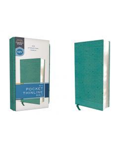 NIV Pocket Thinline Bible, Leathersoft, Teal