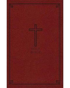 NKJV Thinline Bible LtrSoft-Crimson Red  Cft Prt