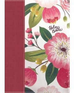 NKJV Woman's Study Bible Cloth over Board Pink Floral Full-Color Red Letter