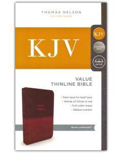 KJV Value Thinline LeatherSoft-Brown, Comfort Print