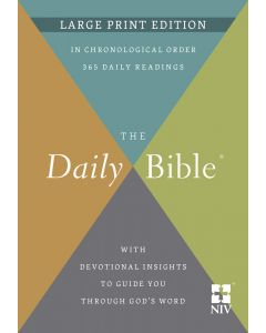NIV The Daily Bible, Large Print Edition, Hardcover