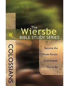 Wiersbe Bible Study Sr-Colossians