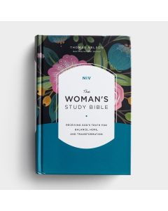 NIV Woman's Study Bible-Hardcover, Blue, Full Color