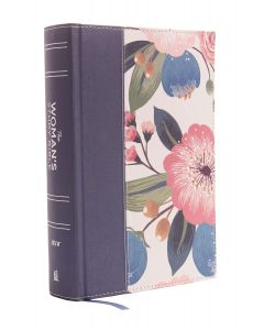 NIV Woman's Study Bible-Cloth/Board, Blue FLoral