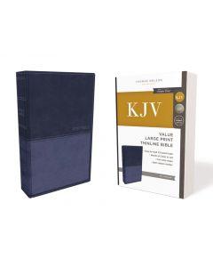 KJV Value Thinline Large Print LeatherSoft-Blue