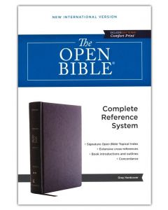 NIV Open Bible-Hardcover, Gray, Red Letter, Comfort Print