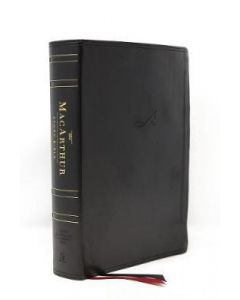 NASB MacArthur Study Bible (Leathersoft, Black)