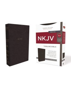 NKJV Thinline Bible Leathersoft-Black, Comfort Print