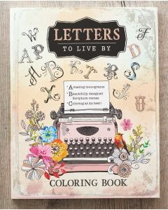 Coloring Book-Letters To Live By, CLR025