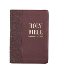 KJV Large Print Compact Faux Leather Bible-Medium Brown, KJV132