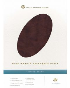 ESV Wide Margin Reference Bible TruTone-Brown