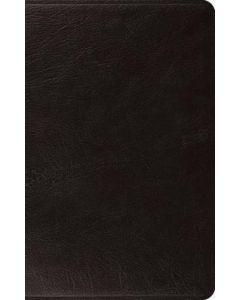 ESV Large Print Thinline Bible-Genuine Leather, Black
