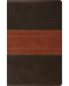 ESV Large Print Thinline Reference. TruTone-Forest/Tan