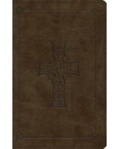 ESV Large Print Thinline TruTone- Olive, Celtic