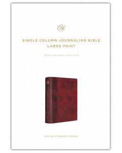 ESV Single Column Journaling Bible Large Print-TruTone Burgundy/Red