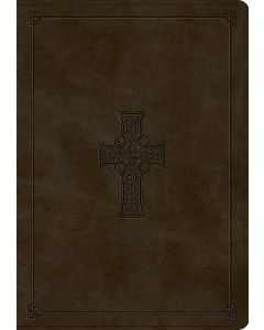 ESV Study Bible TruTone, Olive, Celtic Cross Design, Indexed