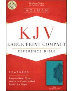 KJV Large Print Compact Reference.Leather Touch-Teal