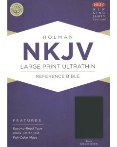 NKJV Large Print UltraThin Reference Bible, Black