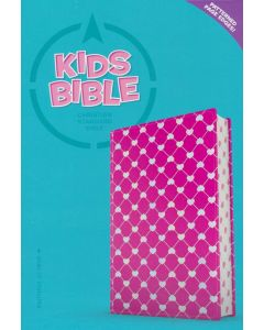 CSB Kids Bible Leather-Touch, Pink with shiny hearts