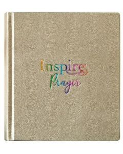 NLT Inspire PRAYER/Journaling Bible LtrLike-Met.Gold