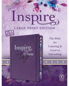 NLT Inspire PRAISE Bible Large Print, Purple, HC