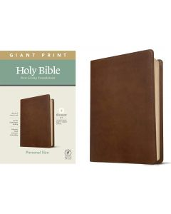 NLT Personal Size Giant Print Bible LeatherLike-Rustic Brown