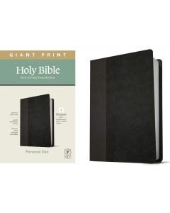 NLT Personal Size Giant Print Bible LeatherLike-Black Onyx