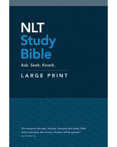 NLT Study Bible Large Print-HC, Red Letter + Aug