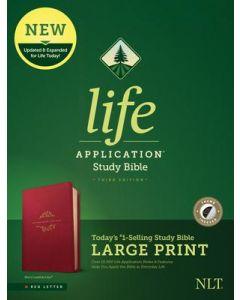 NLT LASB Large Print LtrLike-Berry  IDX Red Ltr 3