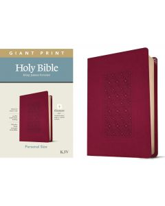 KJV Personal Size Giant Print Bible-Cranberry, Filament Enabled Edition