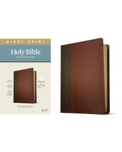 KJV Personal Size Giant Print Bible, Filament Edition, Brown/Mahogany