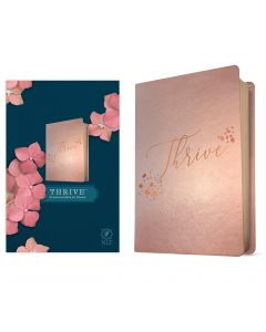 NLT THRIVE Devotional Bible for Women Leatherlike Rose Metallic