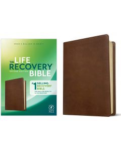 NLT Life Recovery Bible LeatherLike-Rustic Brown, 2nd Edition