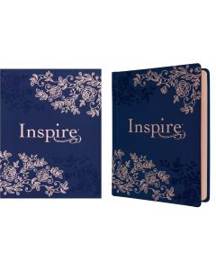 NLT Inspire Bible Journaling LeatherLike-Hardcover, Navy