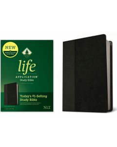 NLT Life Application Study Bible LeatherLike-Black & Onyx, Third Edition
