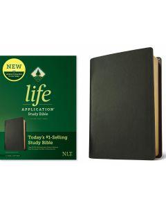 NLT Life Application Study Bible - Genuine Leather-Black, Third Edition