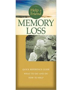 Help a Friend: Memory Loss- Pamplet